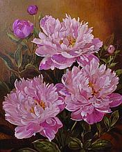 Pamela Davis (20th Century) British. 'Pink Peonies
