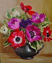 Pamela Davis (20th Century) British. 'Anemones in