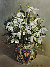 Pamela Davis (20th Century) British. 'Snowdrops',