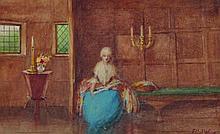 Ethel Wane (19th - 20th Century) British. Interior