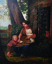 Early 19th Century English School. Mother and Chil