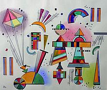 After Joan Miro (1893-1983) Spanish. Symbols, Wate