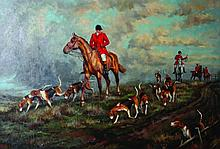 20th Century Continental School. A Hunting Scene,