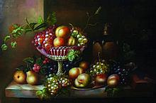 L... Stephen (20th Century). Still Life with Fruit o