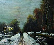 20th Century Continental School. A Winter Scene, w