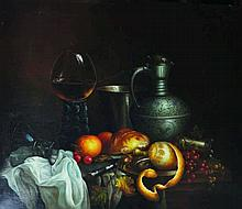 Kruz (20th Century).  Still Life with Fruit on a L