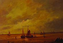 20th Century Dutch School. A Coastal Scene with Be