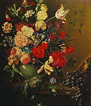 Josling (19th Century) European. Still Life with a