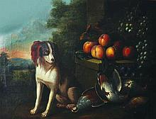 18th Century Dutch School. A Spaniel in a Landscap