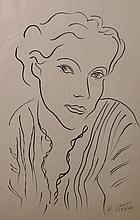 After Henri Matisse (1869-1954) French. Head of a