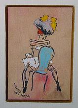 Maurice Van Moppes (1904-1957) French. A Tiller Gi