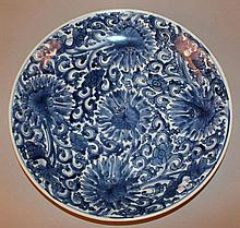 A GOOD CHINESE KANGXI PERIOD BLUE & WHITE PORCELAI