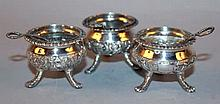 A GROUP OF THREE 19TH/20TH CENTURY CHINESE SILVER