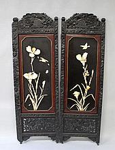 AN EARLY 20TH CENTURY JAPANESE HARDWOOD, LACQUER