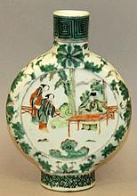 A 19TH CENTURY CHINESE FAMILLE VERTE PORCELAIN MOO