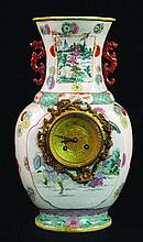 A VERY UNUSUAL 19TH CENTURY CHINESE FAMILLE ROSE P