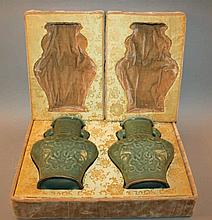 A GOOD PAIR OF EARLY 20TH CENTURY CHINESE MOULDED