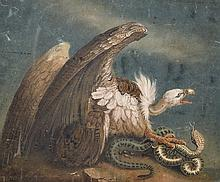 BENJAMIN ZOBELL (1762-1831) A SAND PICTURE ON BOARD, VULTURE