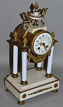 A 19TH CENTURY FRENCH PILLAR CLOCK by RABUSSEAU, TOURS with