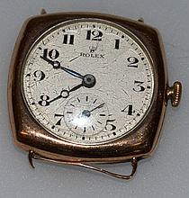A LADIES 1920'S GOLD WRISTWATCH.