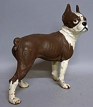 A CAST IRON DOG DOOR STOP. 10ins high.