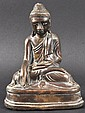 A 19TH CENTURY CHINESE BRONZE FIGURE OF A BUDDHA