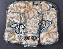 AN UNUSUAL CHINESE QING DYNASTY EMBROIDERED