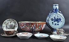 AN 18TH CENTURY CHINESE EXPORT PORCELAIN PUNCH