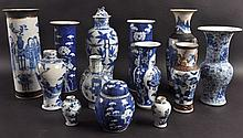 A COLLECTION OF 19TH/20TH CENTURY CHINESE BLUE AND