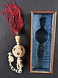 A 19TH CENTURY CHINESE CARVED IVORY HANGING