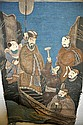 A GOOD LARGE CHINESE QING DYNASTY EMBROIDERED