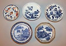 A GROUP OF FOUR 18TH CENTURY CHINESE PORCELAIN SAUCERS
