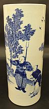 AN UNUSUAL GOOD QUALITY 19TH CENTURY CHINESE BLUE & WHITE PORCELAIN VASE