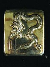 A GOOD CHINESE SILVER OR CHEROOT CASE BY WANG HING