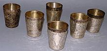 A SET OF SIX BLACK, STARR & FROST ENGRAVED STERLIN