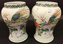 AN UNUSUAL PAIR OF 18TH CENTURY CHINESE FAMILLE RO