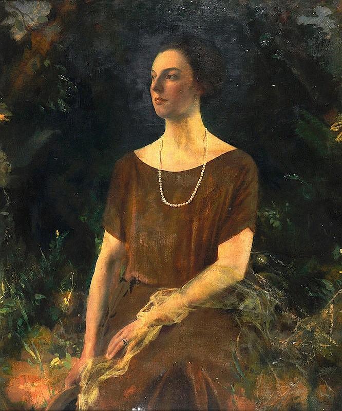 Charles Sims (1873-1928) British. A three-quarter