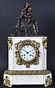 A 19TH CENTURY FRENCH WHITE MARBLE AND ORMOLU