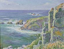 W… M… Skean (20th Century) British. A Cornish Coastal Scene, Oil on Board, Indistinctly Signed and D