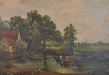 E… Piednue (19th – 20th Century) British. 'The Hay Wain', after John Constable, Oil on Canvas, Signe