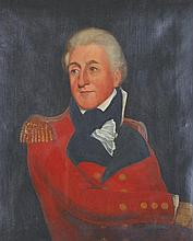 "Early 19th Century English School. Bust Portrait of a Military Officer, Oil on Canvas, 30"" x 24""."