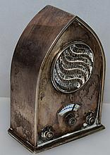 "AN UNUSUAL CONTINENTAL SILVER 915/1000 MINIATURE RADIO ""Domenech Soler Cabot"". 3"