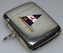 "AN EDWARD VII SILVER AND ENAMEL STRIKER WITH FLAG ""ROYAL MOTOR YACHT CLUB""."