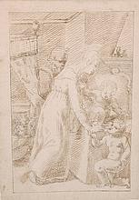 18th Century Italian School.   A Madonna and Child, with a C
