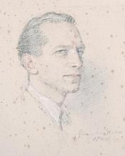 Jane Erin Emmet de Glehn (1873-1961) British.   Portrait of