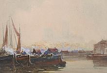 "Charles E….  Hannaford (1863-1955) British.   ""Study – Linco"