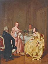 "Eugene Benjamin Fichel (1826-1895) French.   ""Feeding Time"","