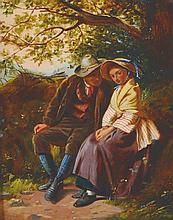 William Henry Midwood (act.  1867-1871) British.   The Meeti