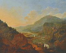 Jan Griffier (1645-1718) Dutch.   An Extensive Mountainous R