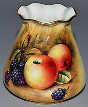 A ROYAL WORCESTER PIE CRUST VASE, shape G957, pain